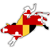 Maryland Decal - Bullrider - Oak Spring Bling