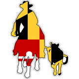 Maryland Decal - Calf Roper - Oak Spring Bling
