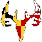 Maryland Decal - Deer Skull - Oak Spring Bling