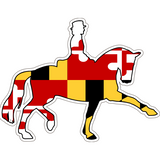 Maryland Decal - Dressage Horse - Oak Spring Bling