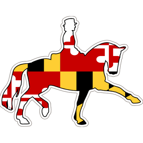 Maryland Decal - Dressage Horse