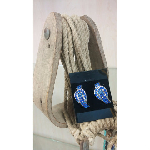 Buckle Earrings - Blue