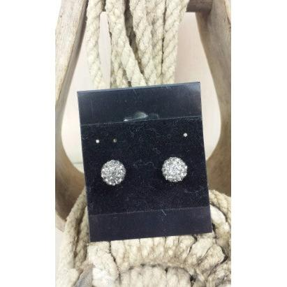 Clear Rhinestone Stud Earrings