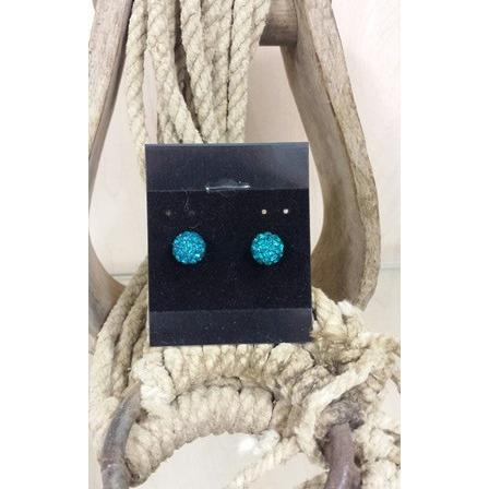 Ball Earrings - Teal