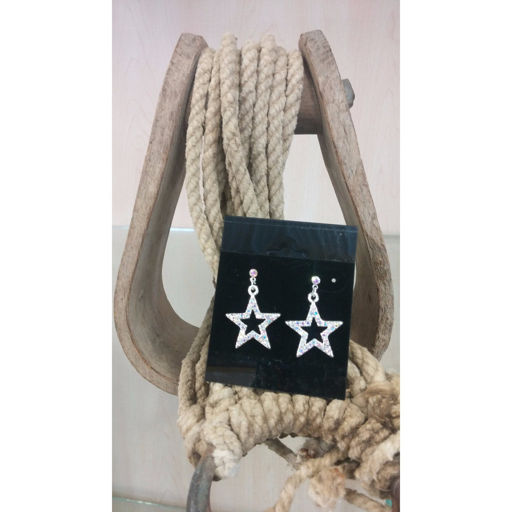 AB colored star post earrings
