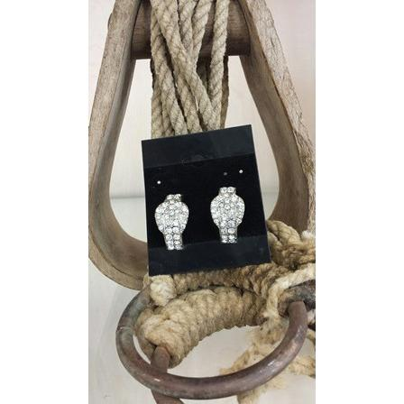 Buckle Earrings - Clear - Oak Spring Bling