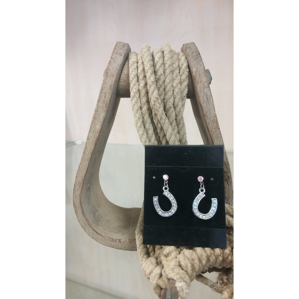 Horseshoe Earrings - AB - Oak Spring Bling