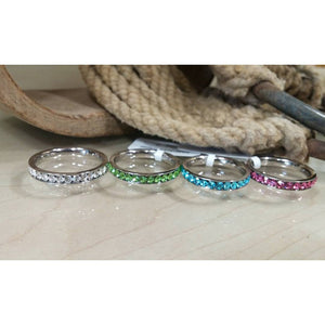 Eternity Band - Stainless Steel, Peridot - Oak Spring Bling