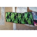 Danbando Headband - Lime green with black lace - Oak Spring Bling