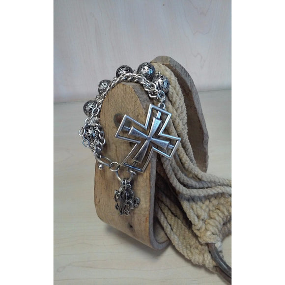 Chunky Cross Bracelet - Oak Spring Bling