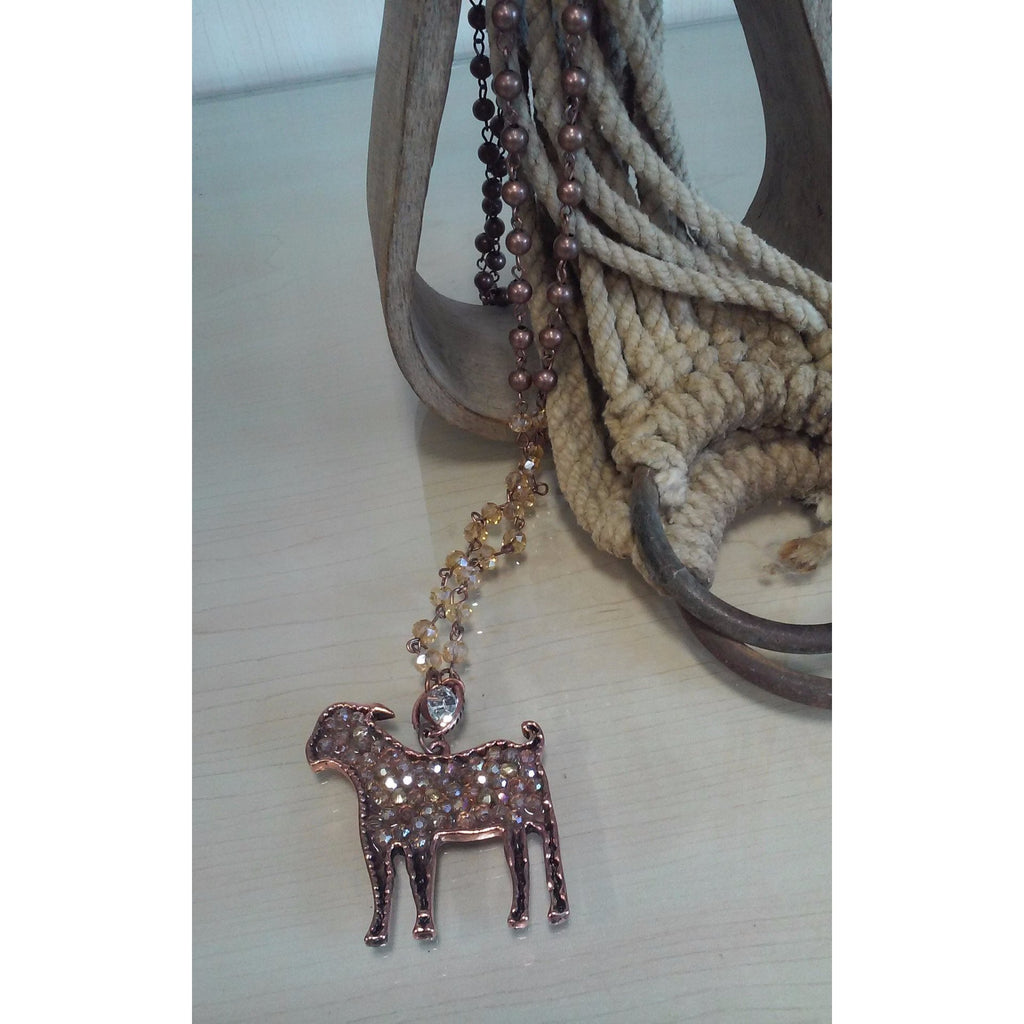 Goat Bling Necklace - Oak Spring Bling