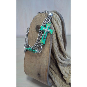 Turquoise Cross Multi Chain Bracelet - Oak Spring Bling