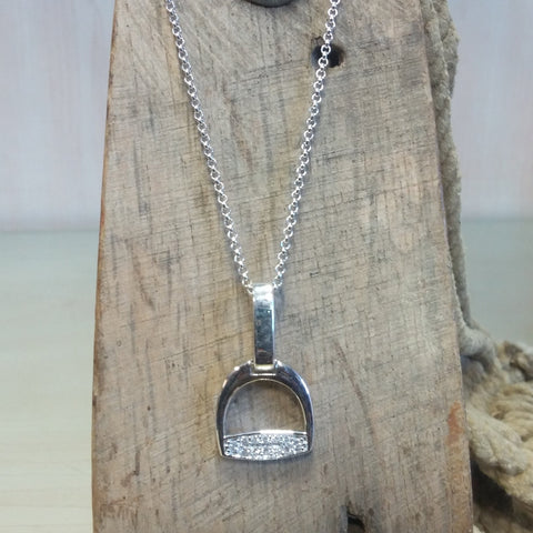 Stirrup Necklace with Bling