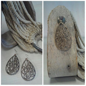 Oval Paisley Earrings