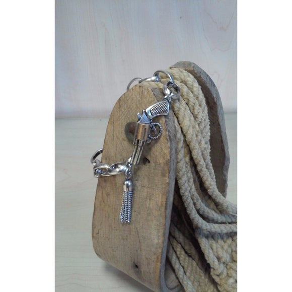 Handgun with Tassel Toggle Bracelet - Oak Spring Bling