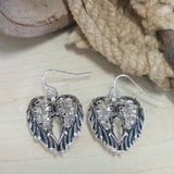 Wing Pendant and Earring Set - Oak Spring Bling