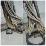 stainless steel ring with black chain spinner