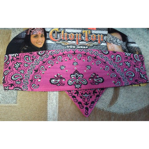 Chop Top Doo Wrap - Pink Paisley Headband - Oak Spring Bling