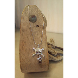 X Bones Skull with Dangle Heart