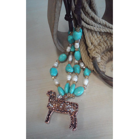 Bling Lamb Necklace