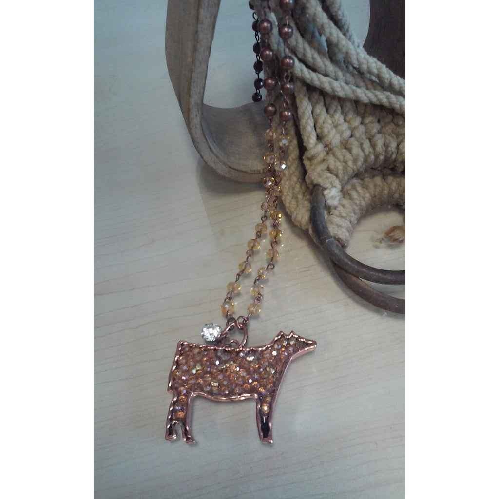 Bling Steer Necklace - Oak Spring Bling