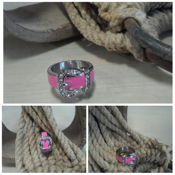 pink stainless steel buckle ring