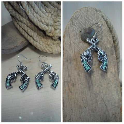 Twin Gun Earrings
