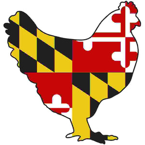 Maryland Decal - Chicken - Oak Spring Bling