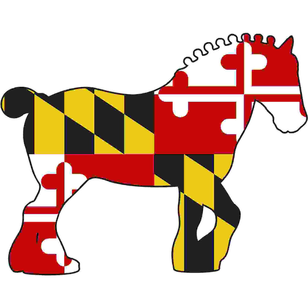 Maryland Decal - Clydesdale - Oak Spring Bling
