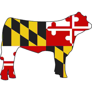 Maryland Decal - Steer - Oak Spring Bling