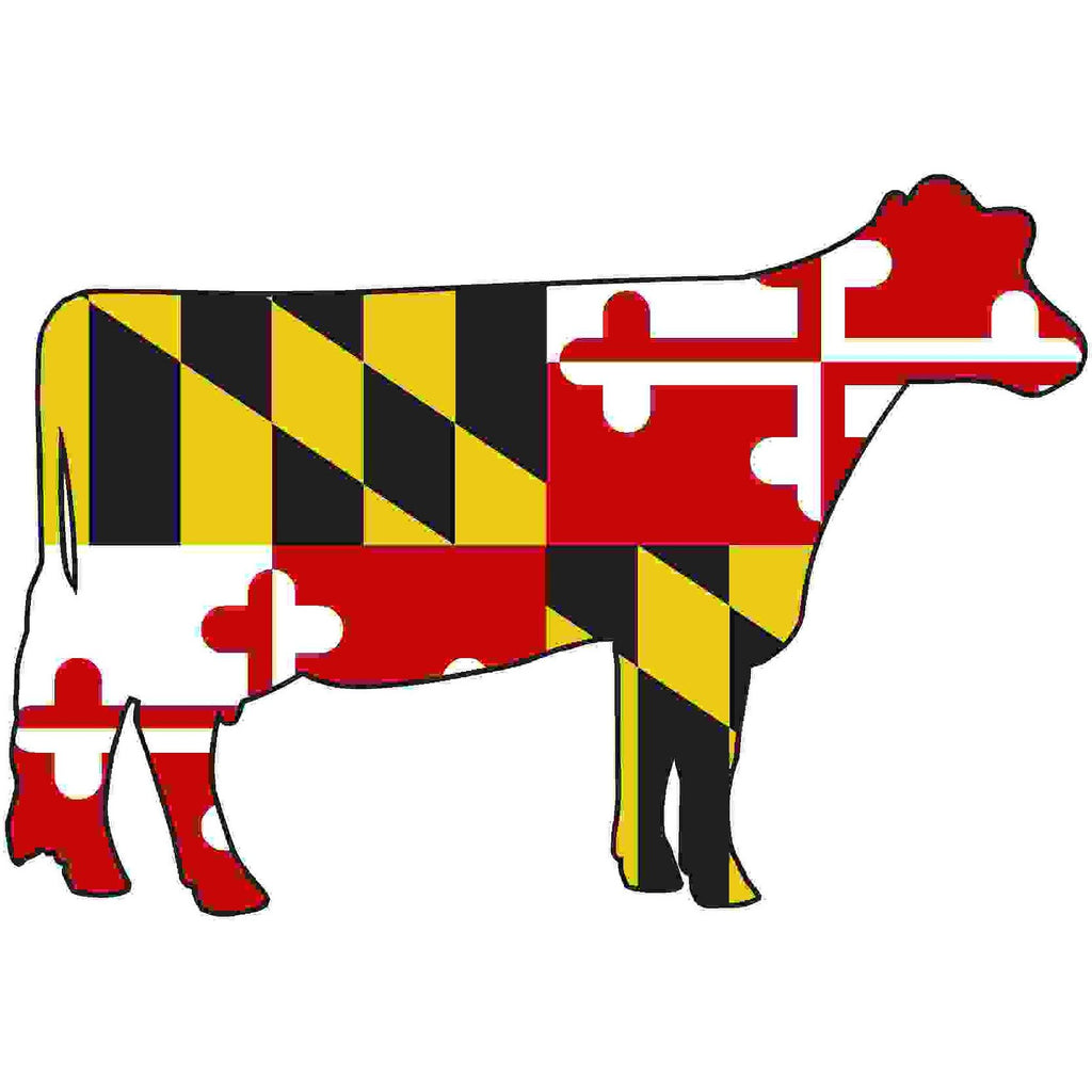 Maryland Decal - Dairy Cow - Oak Spring Bling