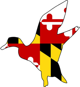 Maryland Decal - Flying Duck