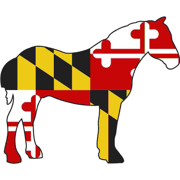 Maryland Decal - Percheron - Oak Spring Bling