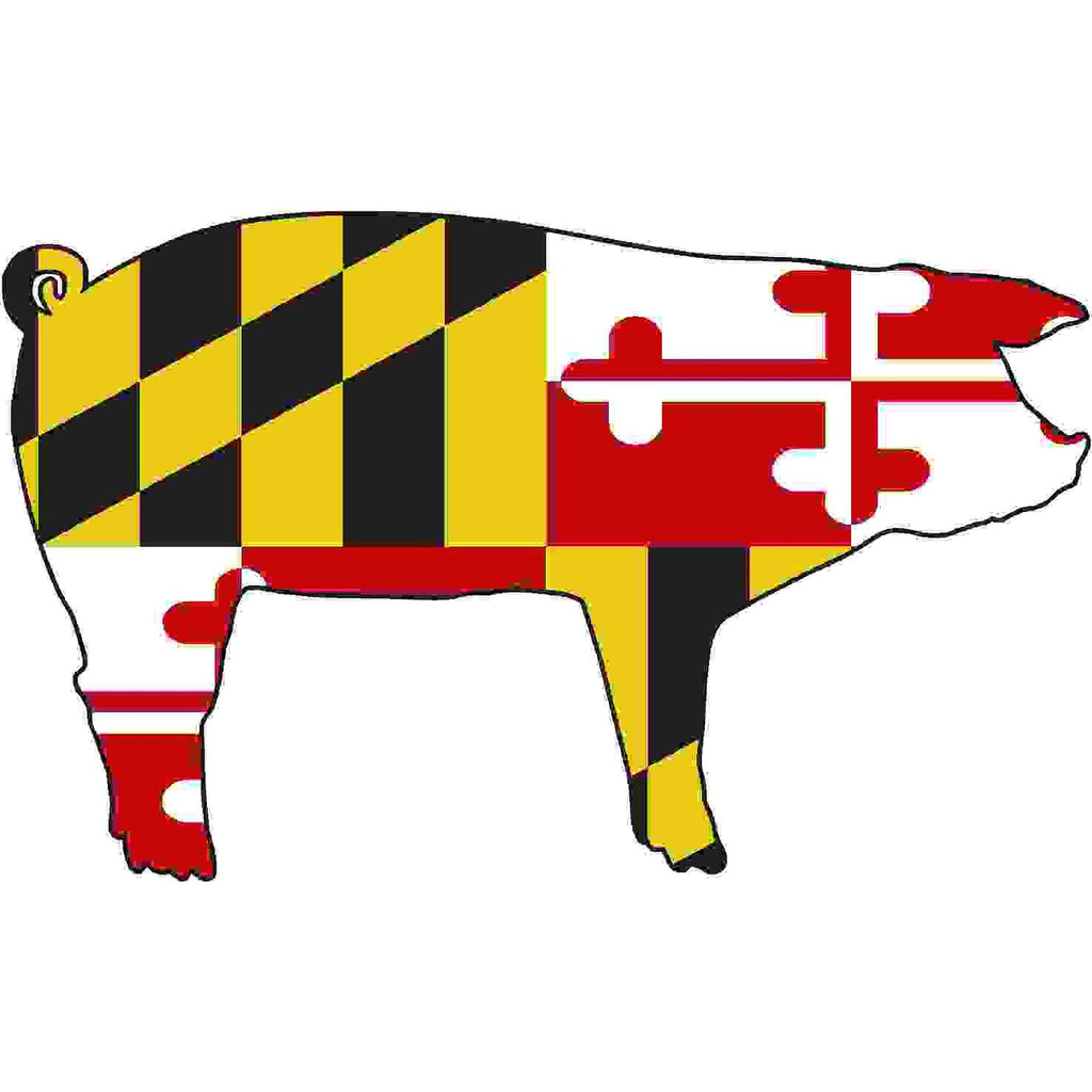Maryland Decal - Pig - Oak Spring Bling