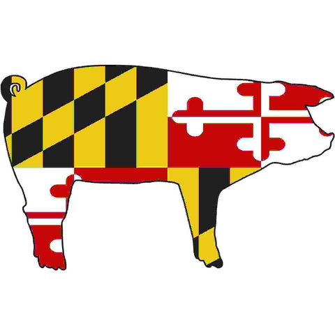 Maryland Decal - Pig
