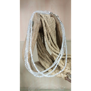 Multi Strand Clear Bead Necklace - Oak Spring Bling