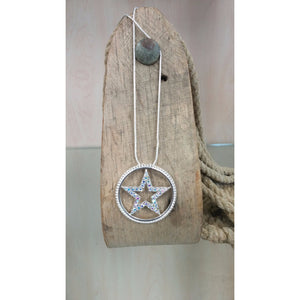 Star in Circle Necklace - Oak Spring Bling