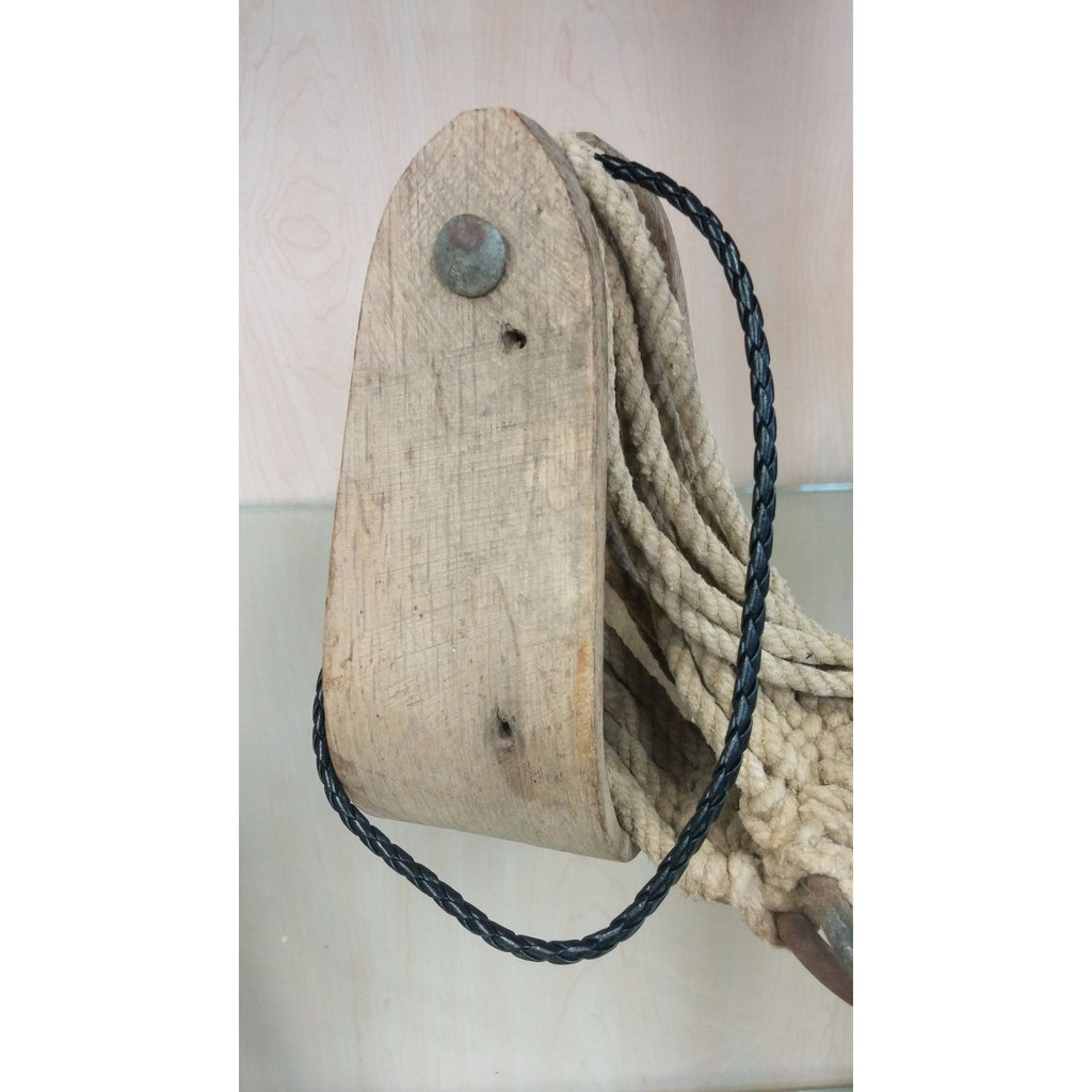 Black Braided Leather Necklace - Oak Spring Bling