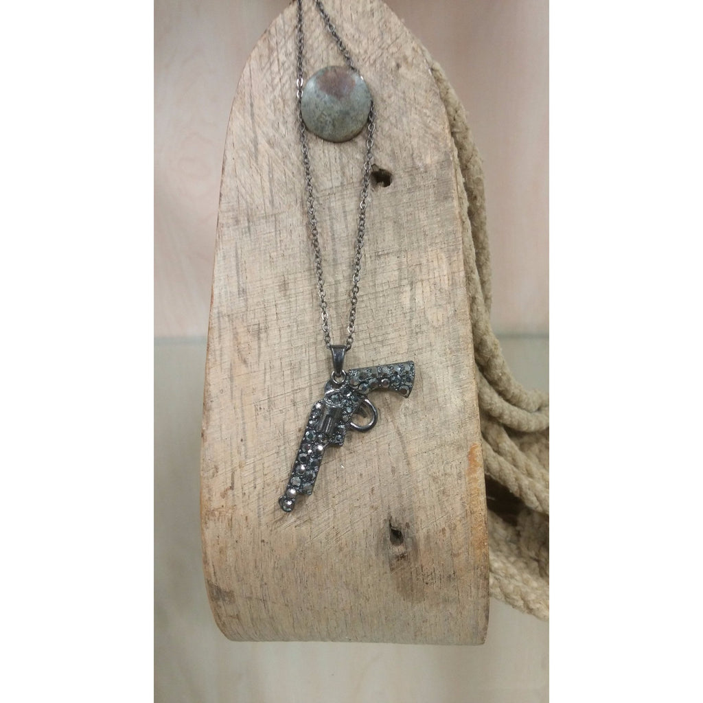 Handgun Necklace - Oak Spring Bling