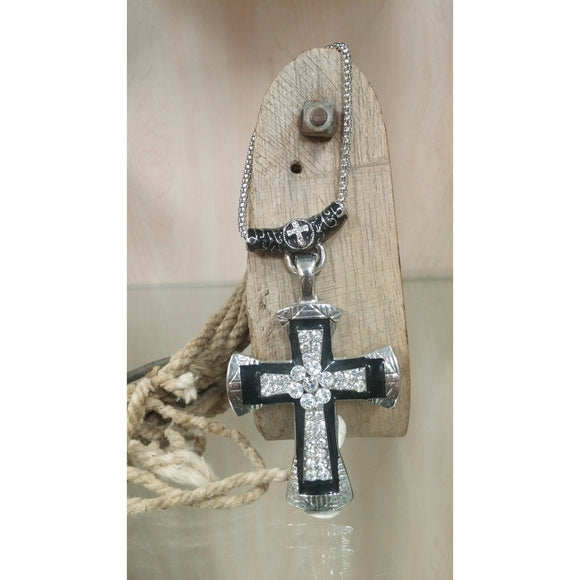 Cross Pendant on Cross Chain - Oak Spring Bling
