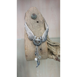 Wing Horseshoe Boot Western Necklace & Earring Set - Oak Spring Bling