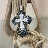 cross pendant with bling