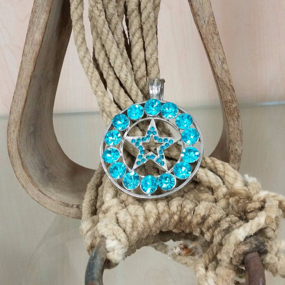 Blue Western Star Pendant - Oak Spring Bling