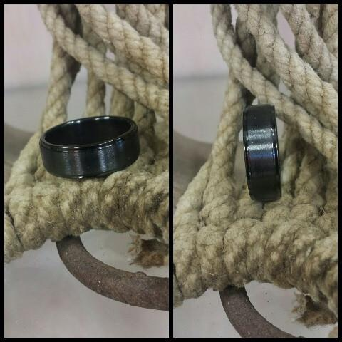 Stainless Steel Black Ring - Oak Spring Bling