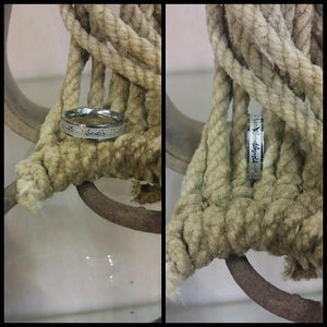 thin stainless steel barbed wire ring