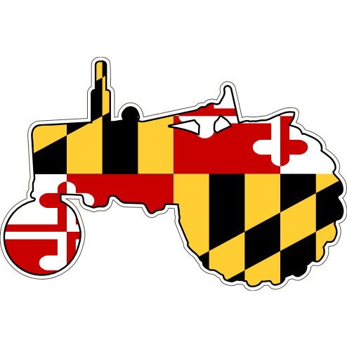 Maryland Decal - Tractor - Oak Spring Bling