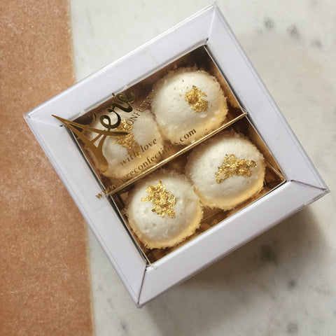 CUSTOM Four Marshmallow Bonbons Favour Box (x10)