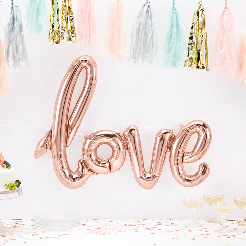 "30-40"" love script balloon"