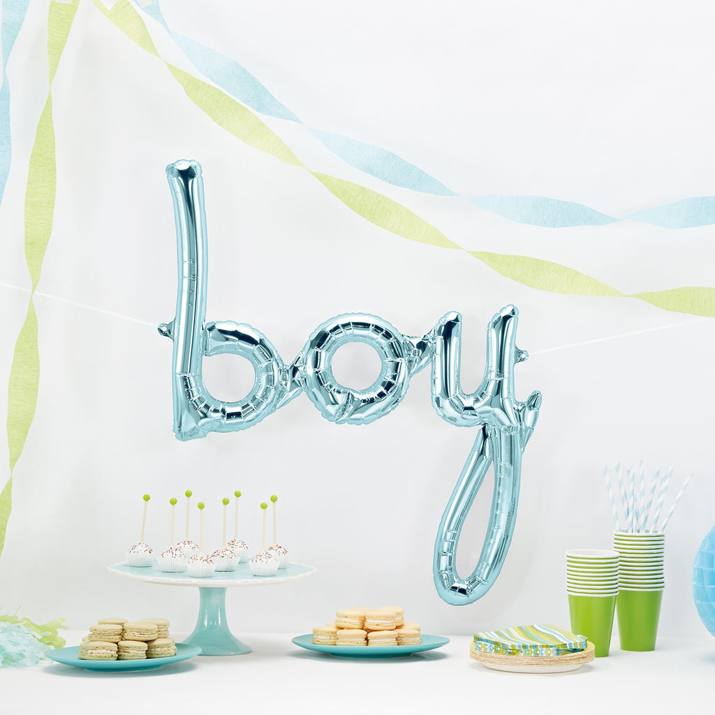 girl, boy or baby script balloon (airfill only)