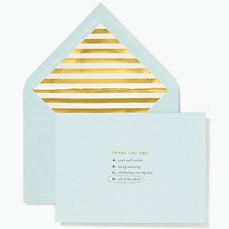 all of the above thank you card set kate spade new york